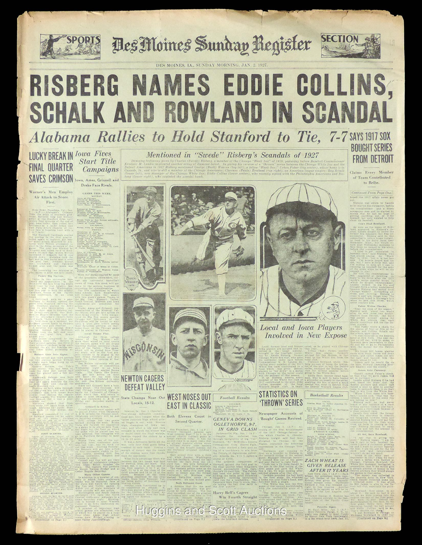chicago black sox world series scandal newspaper lot pictures click on photo to enlarge