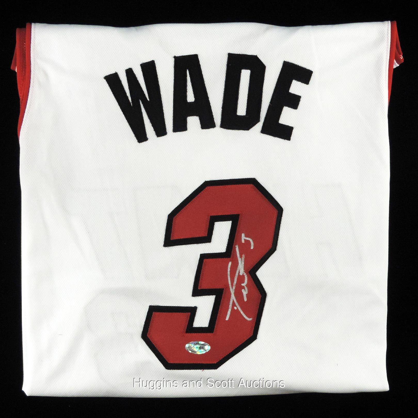 designer fashion 9186e 607bc Dwyane Wade Autograph Lot of (4) With Heat Jersey and (3 ...