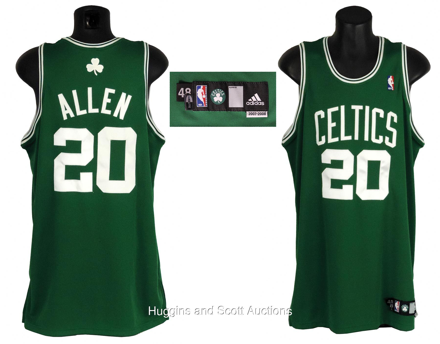 sneakers for cheap b71be 7e08a Ray Allen 2007-08 NBA Champion Boston Celtics Game-Worn Road ...