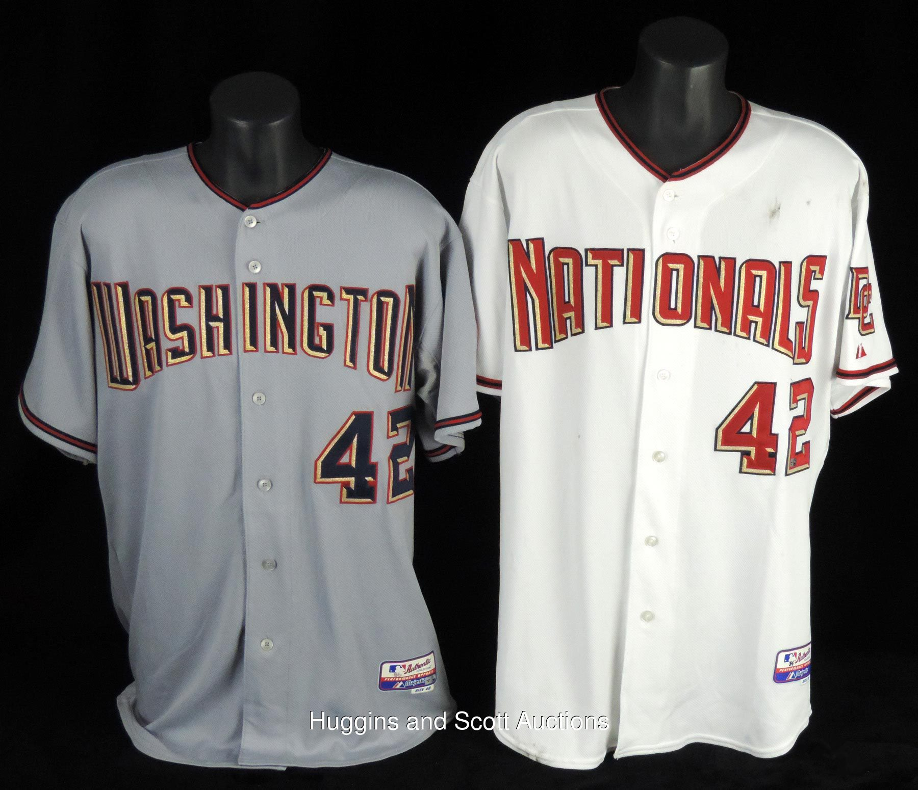 huge discount ed280 f8c4f Washington Nationals 2008-2010 Jackie Robinson Day Game-Worn ...