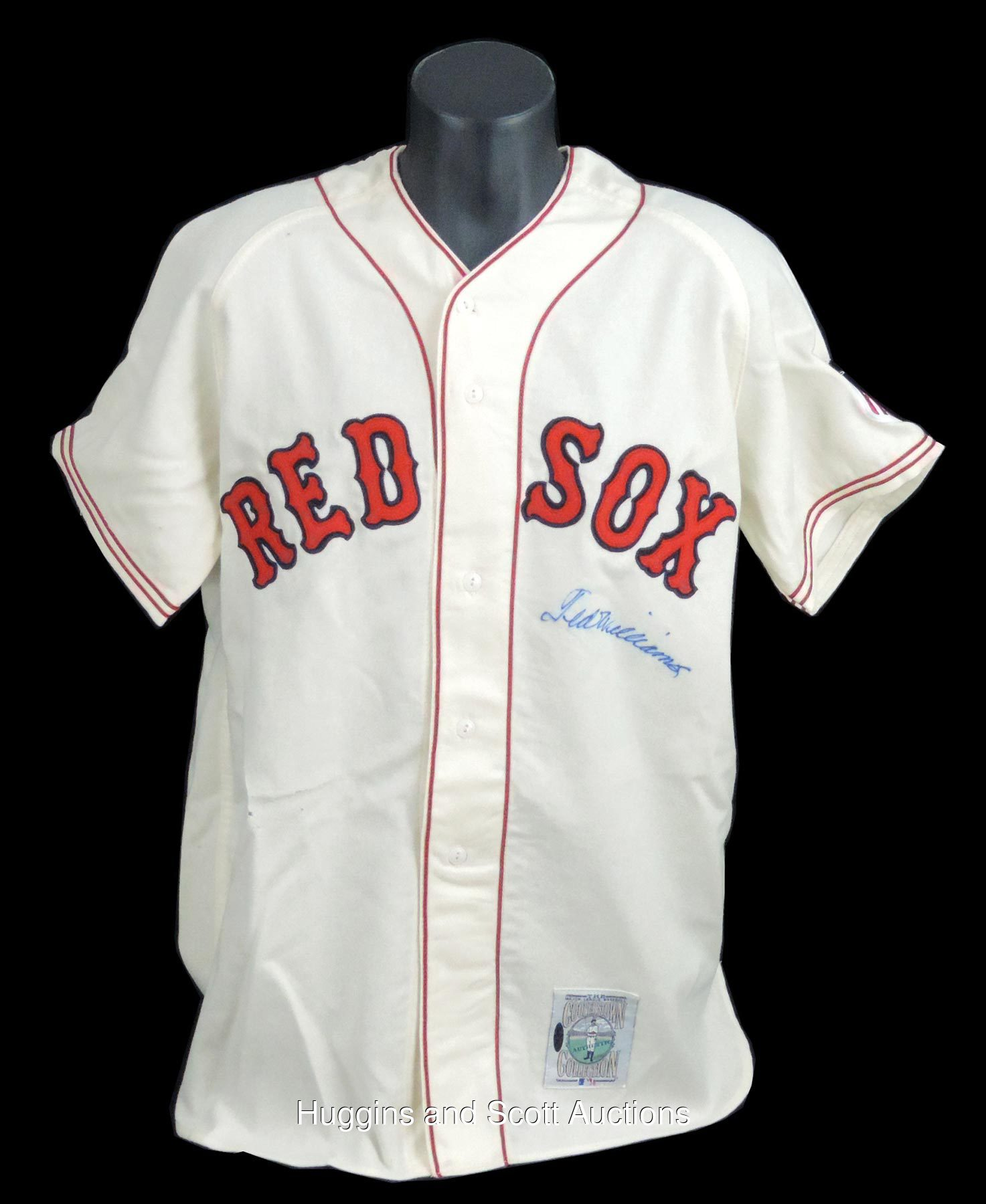 best value 6ef7e 79c8d Ted Williams Signed Mitchell & Ness 1942 Red Sox Jersey - UDA